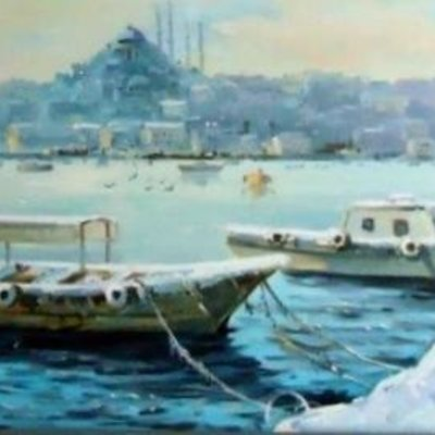 4172 İstanbul'da Kış 50x150