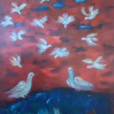 3441 Barış ve Kuşlar 90x150