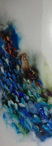 elif-yilmaz-baliklar-64x24-suluboya