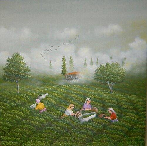 5204 Çay Bahçesi 50x50